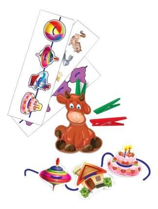 Семейная настольная игра Vladi Toys игра с прищепками и шнурочками Животные