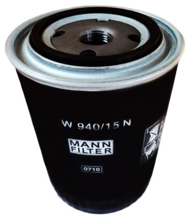 Фильтр масляный двигателя MANN-FILTER W940/15N