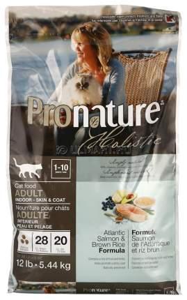 Сухой корм для кошек Pronature Holistic Skin & Coat, для кожи и шерсти, лосось, рис,5,44кг