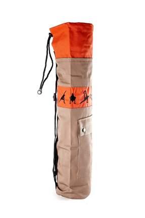 Чехол для йоги RamaYoga Йога, бежевый/оранжевый
