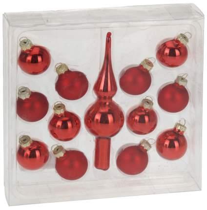 Набор елочных игрушек Koopman AVB504220 Красный