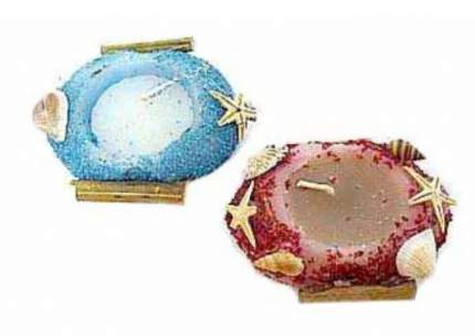 Neogift Стеклянный подсвечник со свечой 8,5х6,5х3,2 см Neogift Е55417