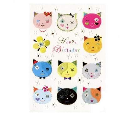 Открытка Turnowsky Happy Birthday Кошки MO6608W1