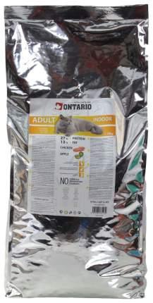 Сухой корм для кошек Ontario Adult Indoor, для домашних, цыпленок, 10кг