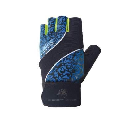 Перчатки для тяжелой атлетики и фитнеса Chiba Lady Wristpro, черные/синие, XS