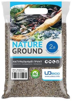 Натуральный песок для аквариумов и террариумов UDeco River Light, бежевый, 0,4-0,8 мм, 2 л