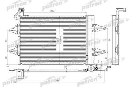 Радиатор кондиционера автомобильный PATRON PRS3639