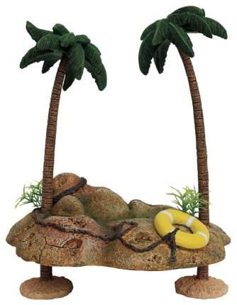 Остров для черепах ArtUniq Островок с пальмами для черепах, пластик, 20,5х15,5х25,5 см