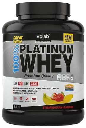 Протеин VPLab 100% Platinum Whey 2300 г Strawberry-Banana