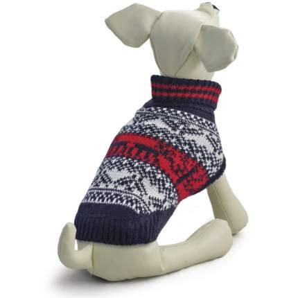 Свитер для собак Triol размер XL унисекс, синий, белый, красный, длина спины 40 см