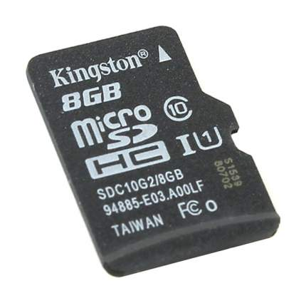 Карта памяти Kingston Micro SDHC SDC10G2 8GB
