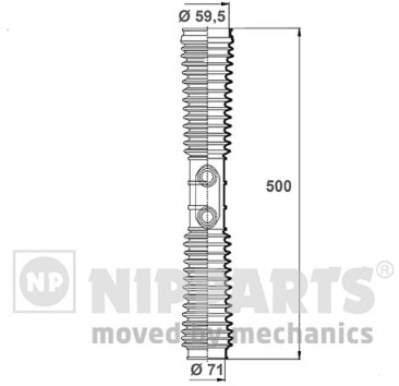 Пыльник рулевой рейки Nipparts N2844022