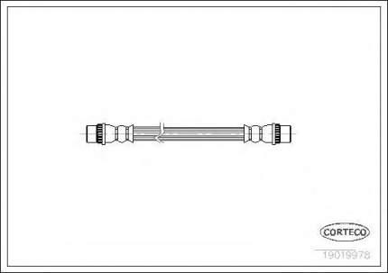 Шланг тормозной Corteco 19019978