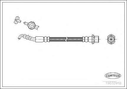 Шланг тормозной системы Corteco 19032918