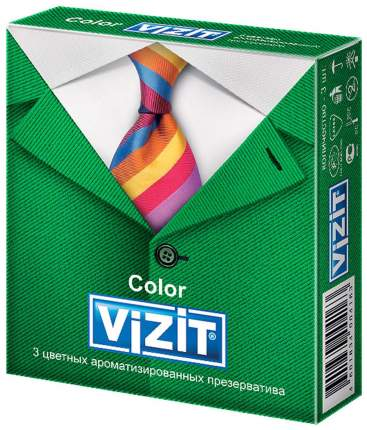 Презервативы Vizit Color ароматизированные 3 шт.