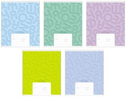 Тетрадь ученическая 18 листов Линейка Буквы