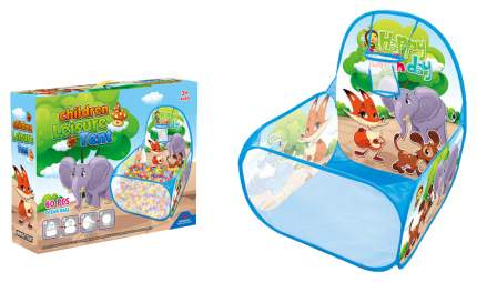 Сухие бассейны Наша Игрушка Манеж детский игровой Зверята 60 шариков 333A-32