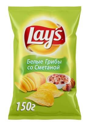 Картофельные чипсы Lays грибы со сметаной 150 г