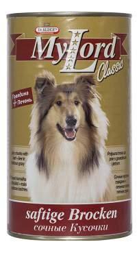Консервы для собак Dr. Alder's My Lord Classic, говядина и печень, 12шт по 1230г