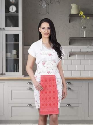 Фартук кухонный KARNA с салфеткой из велюра 30x50 см Брусничный