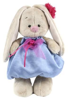 Мягкая игрушка BUDI BASA Зайка Ми в синем платье с розовым бантиком, 23 см