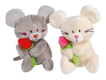 Мягкая игрушка животное Fluffy Family Мышонок Мики с цветком 681599