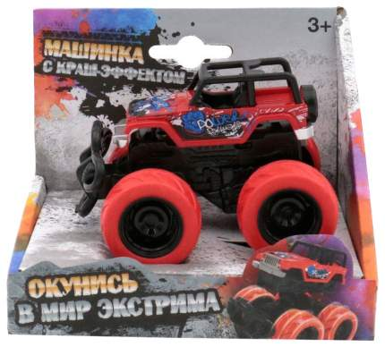 Машинка с краш-эффектом, красная Funky Toys