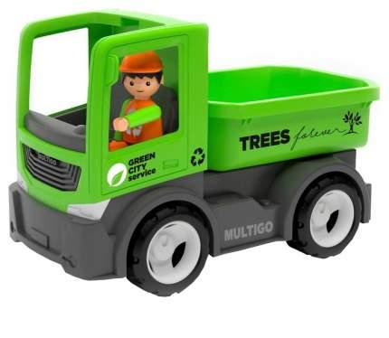 Городской грузовик с водителем