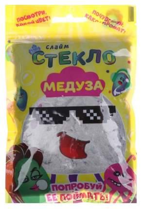 "Слайм ""Стекло"" Медуза Серебряный 150 гр Лепа"