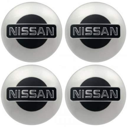 Наклейки на диски литые с логотипом автомобиля Ниссан 12050001 D-56 мм серебристые