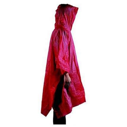 Непромокаемый плащ-дождевик AceCamp Lightweight Vinyl Poncho, синтетика 3908-red