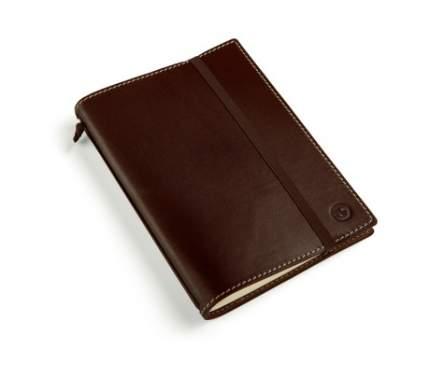 Кожаная записная книжка BMW Motorrad Notebook, Leather, Dark Brown