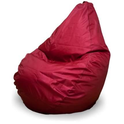 Кресло-мешок ПуффБери Груша Оксфорд XXL, бордовый