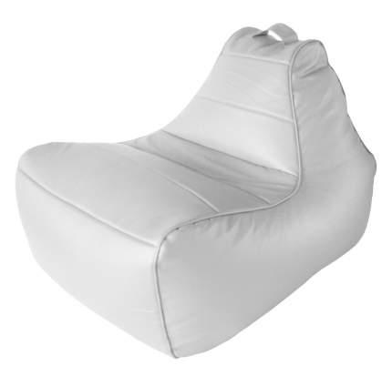 Бескаркасное кресло Папа Пуф Modern Lounger one size, экокожа, Lounger White (белый)