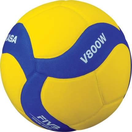 Волейбольный мяч Mikasa V800W №5 blue/yellow