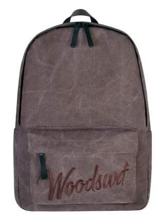 Рюкзак /WOODSURF/ EXPRESS Academy, коллекция CAMP FIRES, канвас, моно коричневый