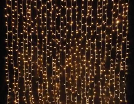 Светодиодная гирлянда-штора LED 200 лампочек, 5 режимов, 2 м (тепло-белая)