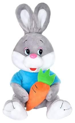 Мягкая игрушка Maxitoys Зайчонок с морковкой в футболке MP-071815 21 см