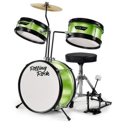 Детская Ударная установка Rolling Rock Kids Jr-1288gr - Цвет - Зеленый