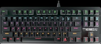 Игровая клавиатура Gamdias Hermes E2 Red Switch Black