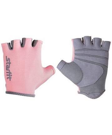 Перчатки для тяжелой атлетики StarFit SU-127, розовый/серый, M