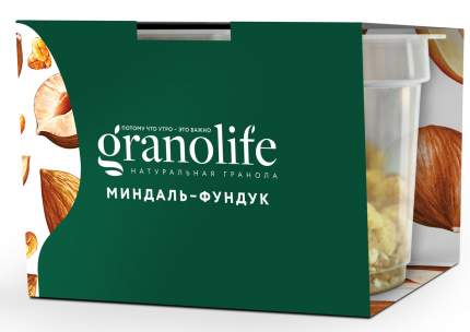 Гранола Granolife  миндаль-фундук 60 г