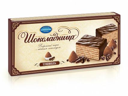 Торт Коломенское шоколадница вафельный со вкусом трюфель 250 г