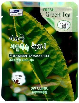 Маска для лица 3W Clinic Fresh Green Tea Mask Sheet 23 мл