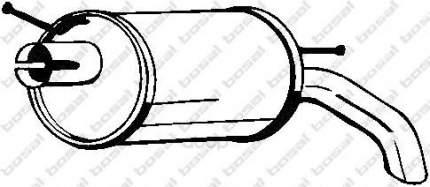 Глушитель выхлопной системы bosal 154511