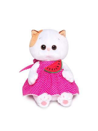 Мягкая игрушка BUDI BASA Кошечка Лили Baby в розовом сарафане и с арбузиком 20 см