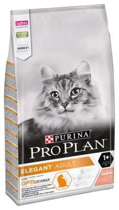 Сухой корм для кошек PRO PLAN Elegant, для поддержания красоты шерсти, лосось, 10кг