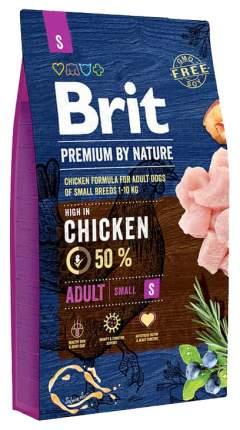 Сухой корм для собак Brit Premium By Nature Adult S, для мелких пород, курица, 8кг