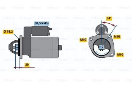 Стартер Bosch 0 986 021 580