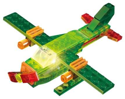 Конструктор пластиковый Crystaland Светящийся 3 в 1 Самолет, 45 деталей